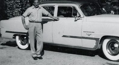 Grandfather with car