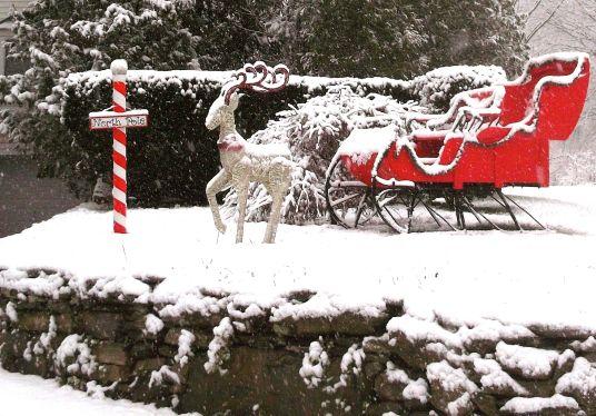 Happy Day Westchester Snow Day Santa Scene